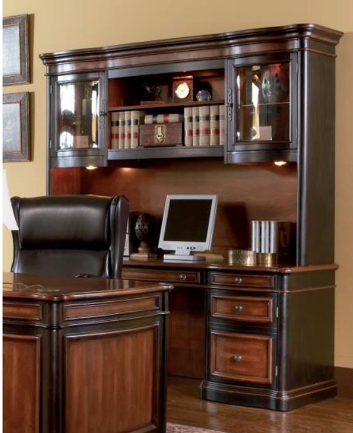 Two Toned Grand Style Home Office Computer Desk With Hutch By Coaster    800500