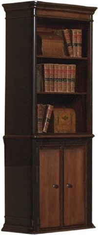 grand style home office. twotoned warm brown finish grand style home office bookcase by coaster 800513