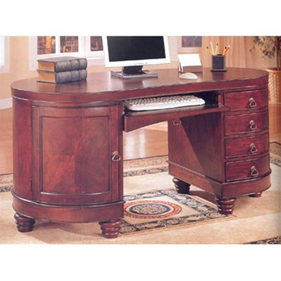 coaster shape home office computer desk.  shape home office kidney shaped computer desk in deep brown cherry finish by  coaster  800571 with shape e