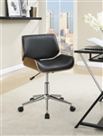 Office Chair in Black Leatherette by Coaster - 800612