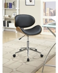 Office Chair in Black Leatherette by Coaster - 800614