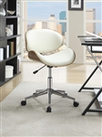 Office Chair in Ecru Leatherette by Coaster - 800615