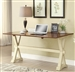 Multi Purpose Writing Desk in Two Tone Antique Cream and Brown Finish by Coaster - 800642