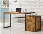 Estrella Desk in Antique Nutmeg Finish by Coaster - 800655