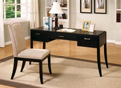2 Piece Desk Set in Cappuccino Finish by Coaster - 800719