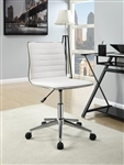 Modern Office Chair in White Fabric by Coaster - 800726