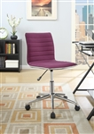 Modern Office Chair in Purple Fabric by Coaster - 800728