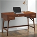 Mid Century Modern Desk in Walnut Finish by Coaster - 800744