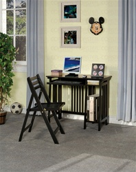 2 Piece Computer Desk Set in Black Finish by Coaster - 800775