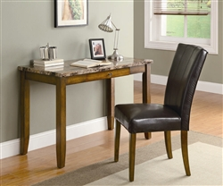2 Piece Desk Set in Walnut Finish by Coaster - 800783