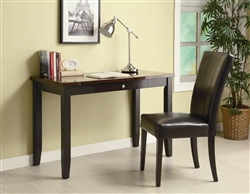 2 Piece Desk Set in Cappuccino Finish by Coaster - 800784