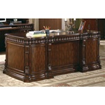 Traditional Home Office Executive Desk in Rich Brown Finish by Coaster - 800800