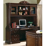 Traditional Home Office Computer Desk with Hutch in Rich Brown Finish by Coaster - 800801
