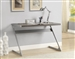 Wireless Bluetooth Connection Desk in Weathered Grey Finish by Coaster - 800826