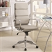 Office Chair in Taupe Leatherette by Coaster - 800827