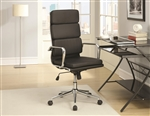 Office Chair in Black Leatherette by Coaster - 800836