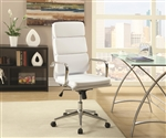 Office Chair in White Leatherette by Coaster - 800837