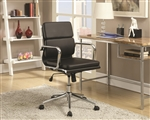 Office Chair in Black Leatherette by Coaster - 800838