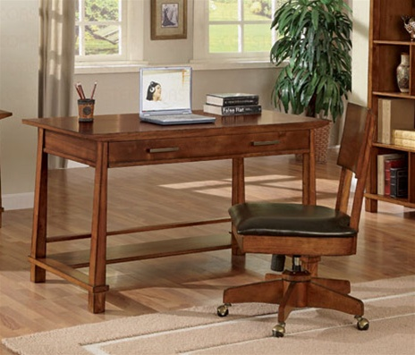asian office furniture. Asian Inspired Home Office Desk In Light Brown Finish By Coaster - 800841 Asian Office Furniture