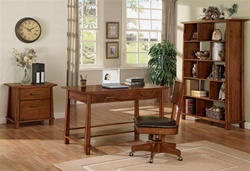 4 Piece Asian Inspired Home Office Collection in Light Brown Finish by Coaster - 800841S