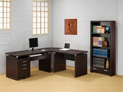 4 Piece Writing Desk in Cappuccino Finish by Coaster - 800891