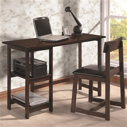 2 Piece Desk Set in Espresso Finish by Coaster - 800917