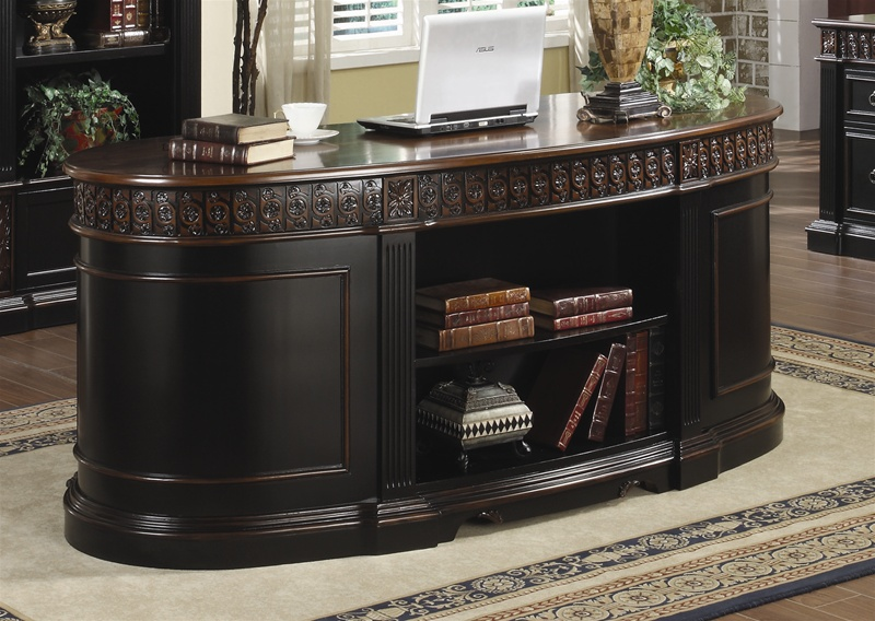 nicolas home office executive desk in two tone finish by coaster 800921
