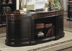 Nicolas Home Office Executive Desk in Two Tone Finish by Coaster - 800921