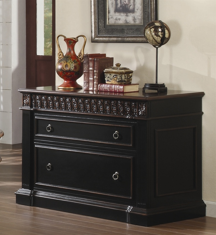 nicolas home office executive desk in two tone finish by coaster 800921. Black Bedroom Furniture Sets. Home Design Ideas