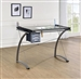 Artist Drafting Table Desk in Dark Grey Finish by Coaster - 800986