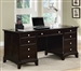 Garson Home Office Executive Desk in Rich Cappuccino Finish by Coaster - 801012