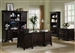 Garson 4 Piece Home Office Executive Set in Rich Cappuccino Finish by Coaster - 801012S