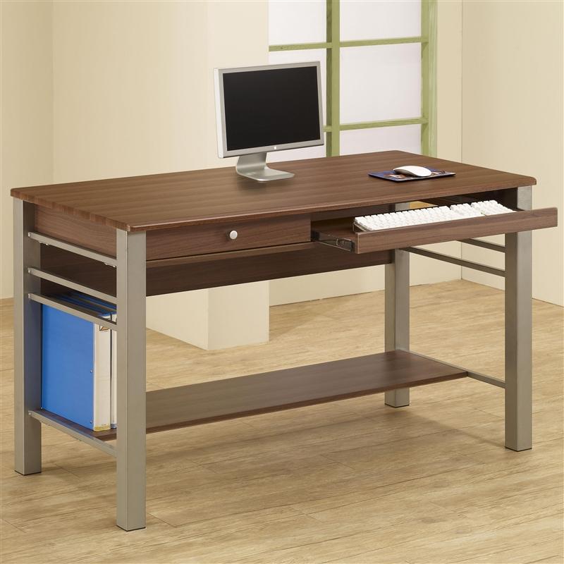 Carmen Computer Desk In Warm Walnut Finish By Coaster 801041