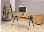 Lori 3 Piece Home Office Set in Light Brown Pecan Finish by Coaster - 801051-S