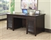 Power Outlet Writing Desk in Dark Brown Finish by Coaster - 801097
