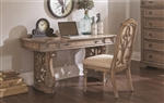 Ilana Writing Desk in Antique Linen Finish by Coaster - 801100