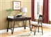 2 Piece Home Office Set in Brushed Pecan and Antique Brass Finish by Coaster - 801126
