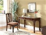 2 Piece Home Office Set in Golden Brown Finish by Coaster - 801127