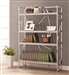 Chrome and Reclaimed Wood Bookcase by Coaster - 801164