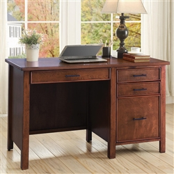Office Desk in Red Brown Finish by Coaster - 801199