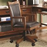 Maclay Office Chair in Red Brown Finish by Coaster - 801207