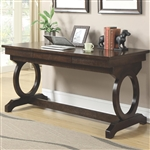 Enedina Desk in Rich Chestnut Finish by Coaster - 801211
