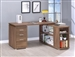 Yvette L Shaped Desk in Elm Finish by Coaster - 801517