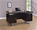 Glavan Desk in Cappuccino Finish by Coaster - 801521