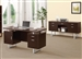 Glavan 2 Piece Office Set in Cappuccino Finish by Coaster - 801521-S