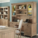 Florence Credenza and Hutch in Warm Natural Finish by Coaster - 801643