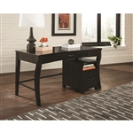 Home Office Writing Desk in Smokey Black Finish by Coaster - 801751