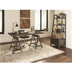 Deponte Home Office Desk in Burnished Cognac Finish by Coaster - 801771