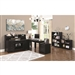 Preater 3 Piece Home Office Set in Black Finish by Coaster - 801901-S