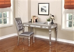 2 Piece Desk Set in Metallic Platinum Finish by Coaster - 804187-S